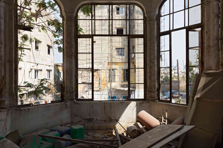 Destruction at an abandoned old apartment in the Karantina district, in Beirut, Lebanon, Saturday, September 5, 2020.