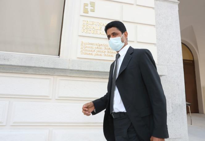 Nasser Al-Khelaïfi, le 14 septembre, au Tribunal pénal fédéral suisse de Bellinzone.