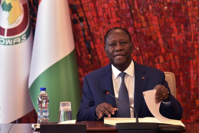 Le président ivoirien Alassane Ouattara, à Abidjan, en mars 2020.