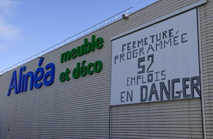 Un magasin Alinéa à La Mézière (Ille-et-Vilaine), dans la banlieue de Rennes, le 18 août.