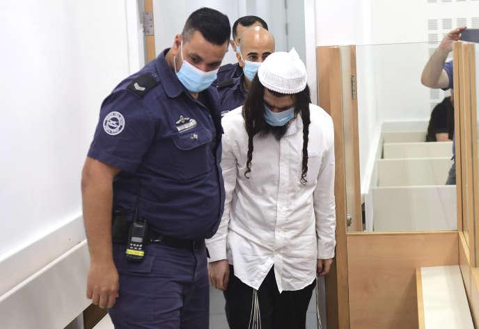 Amiram Ben-Ouliel, le 18 mai lorsqu'il est arrivé au tribunal de Lod pour son procès.