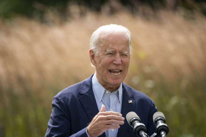 Joe Biden s'exprime sur le changement climatique, lundi 14septembre 2020, à Wilmington (Delaware).