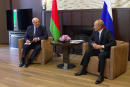 Russia's President Vladimir Putin attends a meeting with his Belarusian counterpart Alexander Lukashenko in Sochi, Russia September 14, 2020, in this still image taken from a video. Russian Presidential Executive Office/Handout via REUTERS ATTENTION EDITORS - THIS IMAGE WAS PROVIDED BY A THIRD PARTY. NO RESALES. NO ARCHIVES.
