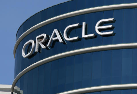 (FILES) In this file photo the Oracle logo is displayed on the company's world headquarters April 20, 2009 in Redwood Shores, California. The US government has received a bid from Oracle for TikTok's American operations after the video sharing app's parent ByteDance rejected a proposal from Microsoft, Treasury Secretary Steven Mnuchin said on September 14, 2020. Mnuchin told CNBC his office received the proposal involving Oracle over the weekend and said the bid would be handled by a government panel that reviews foreign transactions for national security concerns. / AFP / GETTY IMAGES NORTH AMERICA / JUSTIN SULLIVAN
