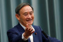 Japan's Chief Cabinet Secretary Yoshihide Suga gestures during his regular news conference at the Prime Minister's official residence in Tokyo, Japan, September 14, 2020. REUTERS/Kim Kyung-Hoon