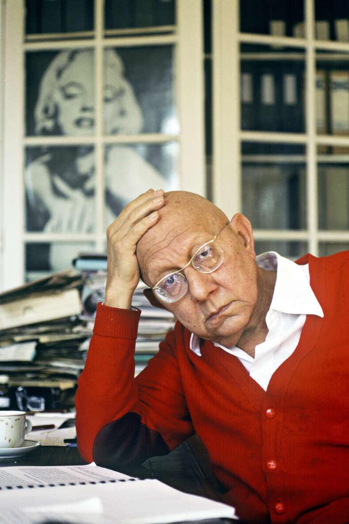 Le philosophe Cornelius Castoriadis, en 1990, à Paris.