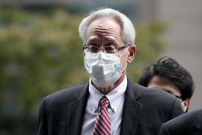 Greg Kelly, ex-bras droit de Carlos Ghosn chez Nissan et Renault, à son arrivée au tribunal de Tokyo, mardi 15septembre.