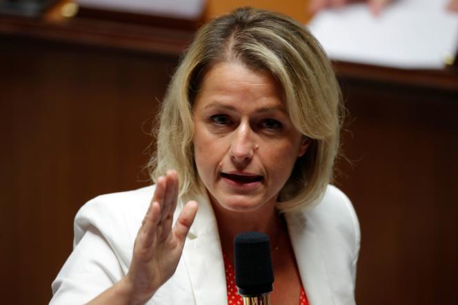 Barbara Pompili, la ministre de l'écologie, à l'Assemblée nationale, le 15 septembre 2020.