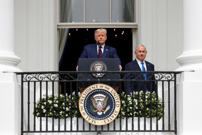 Le président américain, Donald Trump, et le premier ministre israélien, Benyamin Nétanyahou, mardi 15 septembre à la Maison Blanche.