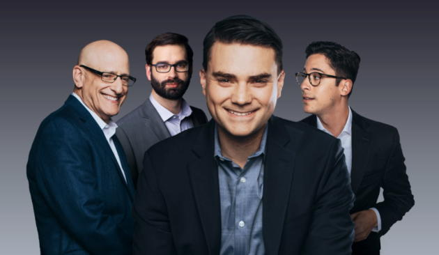 Ben Shapiro, au premier plan, et l'équipe de son site, «The Daily Wire».