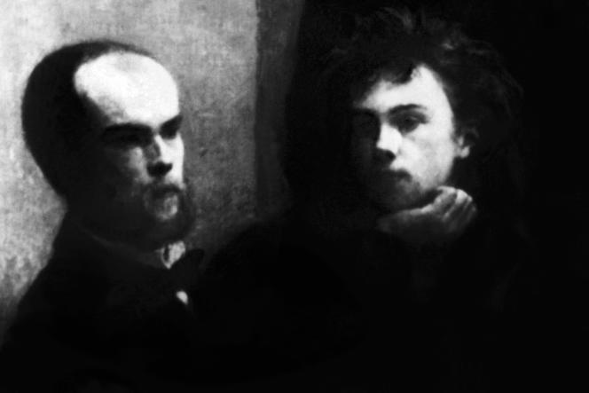Fragment du tableau de Fantin-Latour «Le coin de table» représentant les poètes Paul Verlaine et Arthur Rimbaud, exposé au musée d'Orsay à Paris.