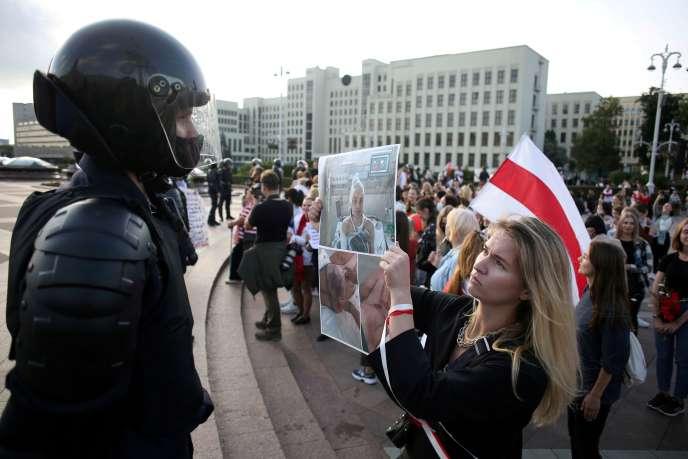 Manifestations à Minsk, le 5 septembre.