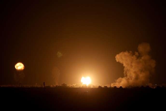 A la suite d'une frappe aérienne israélienne dans le sud de la bande de Gaza, le 16septembre.