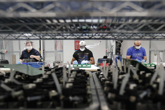 A l'usine Ford d'Ypsilanti (Michigan), le 13 mai 2020.