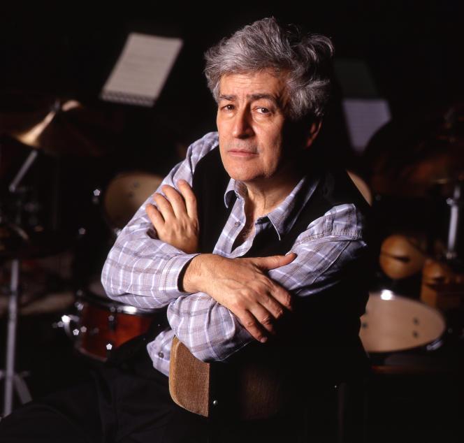Le compositeur Paul Méfano (1937-2020), en mars 1997.