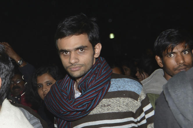 Le militant Umar Khalid en février 2016 à New Delhi.