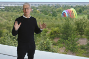 Le patron d'Apple, Tim Cook, à Cupertino (Californie), mardi 15 septembre 2020.