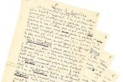 Manuscrit autographe d'Émile Zola, «Pour la lumière», Londres, 19 Juillet 1898, entièrement inédit.