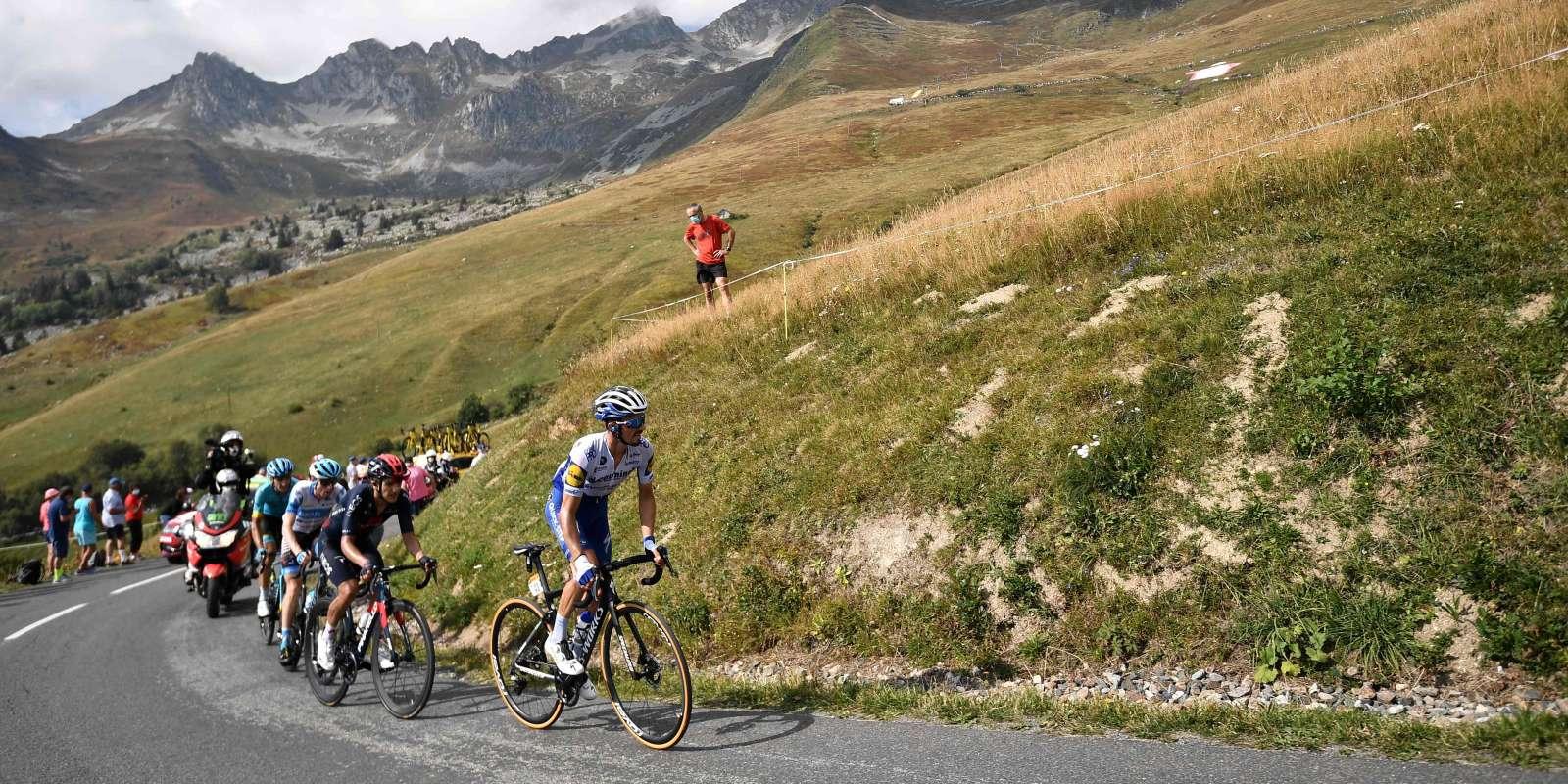 Lors de la 17e étape du Tour de France.