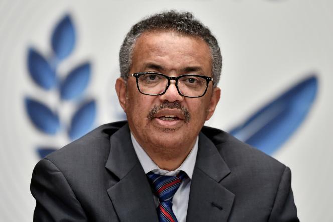 Le directeur général de l'Organisation mondiale de la santé (OMS),Tedros Adhanom Ghebreyesus, à Genève, le 3 juillet 2020.