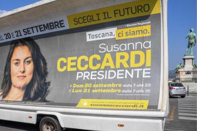 La candidate de la Ligue en Toscane essuie un revers.