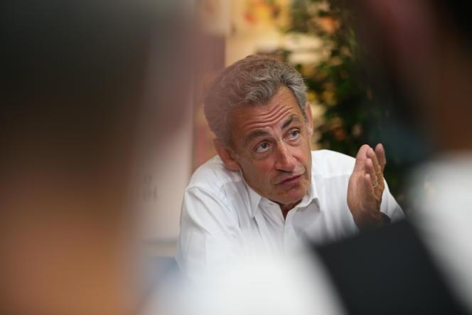 Nicolas Sarkozy, à Ajaccio, le 24juillet 2020.