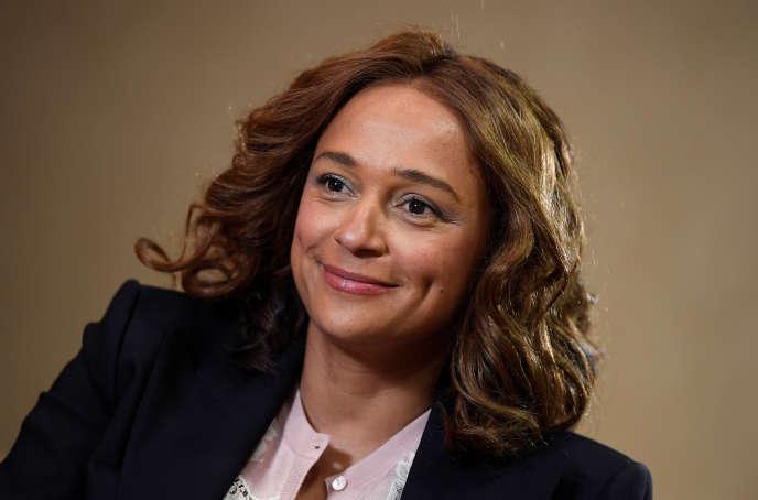Isabel dos Santos, fille aînée de l'ancien président angolais et considérée comme la femme la plus riche d'Afrique, à Londres, le 9 janvier 2020.