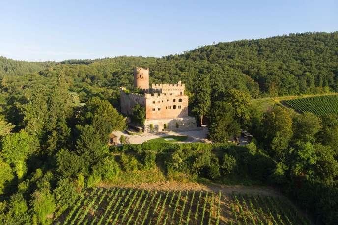 Le château de Kintzheim dans le Bas-Rhin, en juillet 2019.