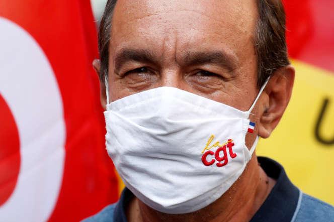 Philippe Martinez, secrétaire général de la CGT, lors d'une manifestation à Paris, le 17 septembre 2020.