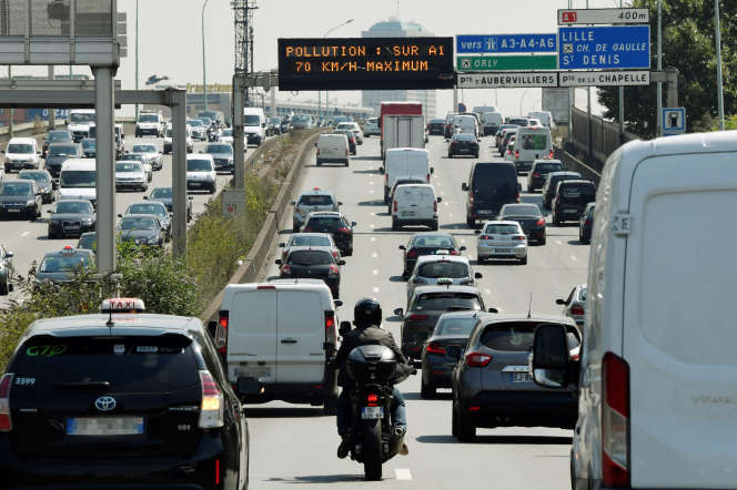 Sur l'autoroute A1, qui relie Paris au nord de la France, le 27 juillet 2018.