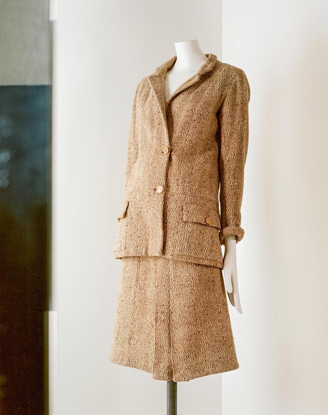 Tailleur en tweed de laine chiné, daté entre 1927 et 1929.