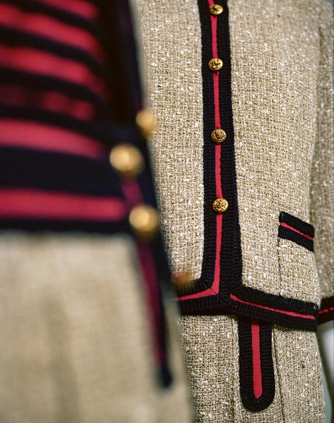 Tailleur Chanel en tweed ficelle, collection printemps-été 1961.