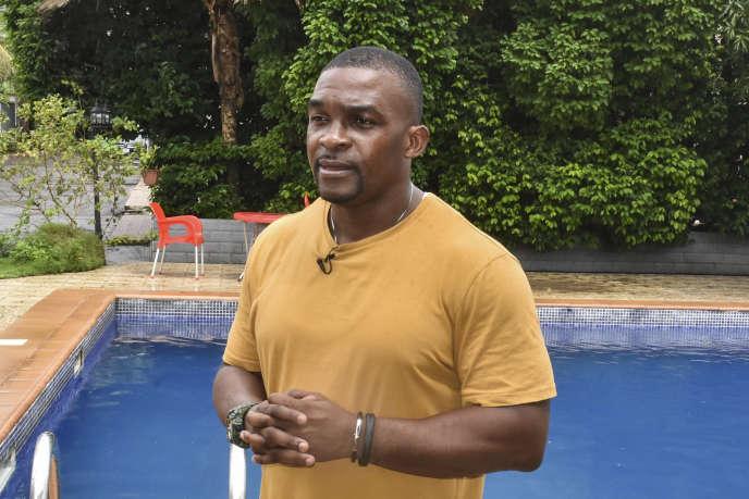 Eric Moussambani à Malabo, la capitale de la Guinée équatoriale, le 12 septembre 2020.