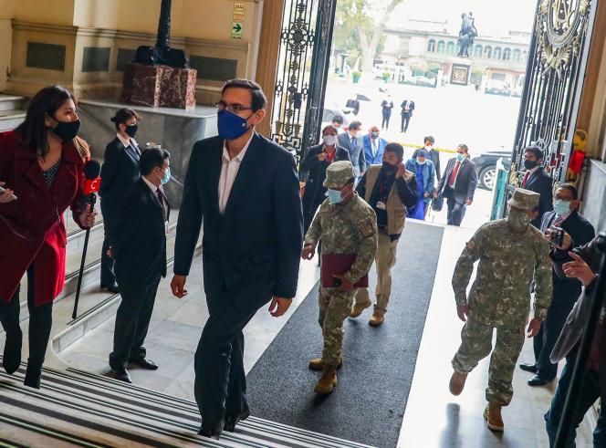 Le président péruvien, Martin Vizcarra, à Lima, le 18 septembre.