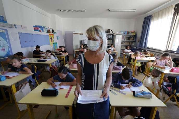 A l'école primaire Les Magnolias de Nice, le 1er septembre.