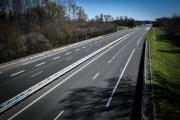 Une route nationale dans l'Aube, le 23 mars.