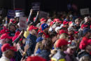 Supporters of President Donald Trump listen as he speaks during a campaign rally, Thursday, Sept. 17, 2020, in Mosinee, Wis. (AP Photo/Evan Vucci)