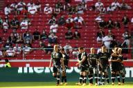 Les joueurs du SC Fribourg lors du match de Bundesliga contre le VfB Stuttgart, à Stuttgart, en Allemagne, le 19 septembre.