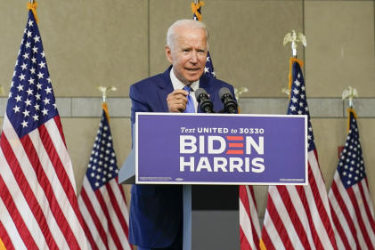 Joe Biden, à Philadelphie, le 20 septembre 2020.