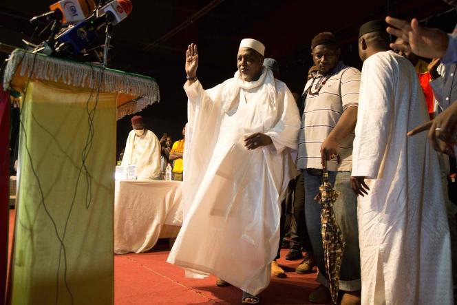 L'imam Mahmoud Dicko lors d'une cérémonie organisée par son organisation, laCoordination des mouvements, le 28 août, à Bamako.