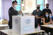 Le premier ministre italien Giuseppe, lors du référendum sur la constitution, à Rome, le 20 septembre.