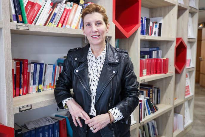 Nathalie Roret, alors vice-bâtonnière de Paris, lors des vœux à la presse de la profession d'avocat, à Paris, le 29 janvier.