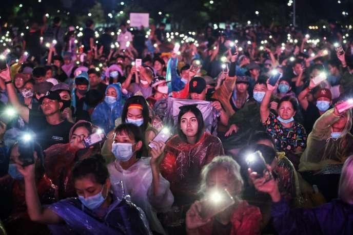 Manifestation anti-gouvernement à Bangkok, Thaïlande, le 19 septembre.