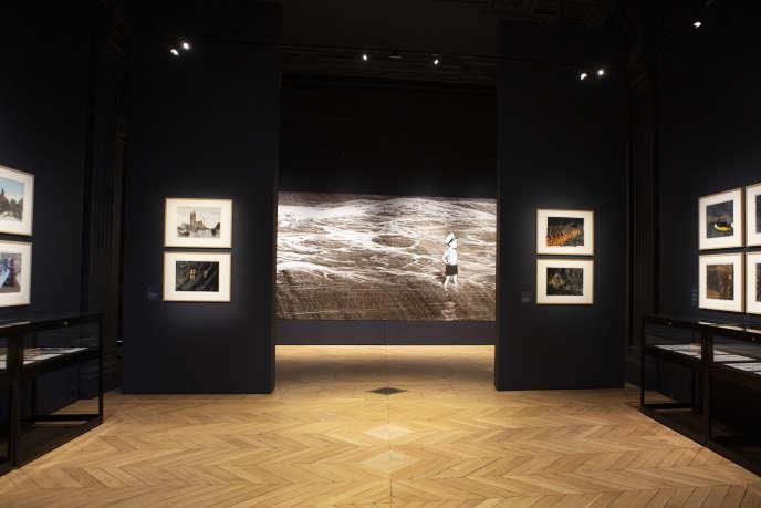 Vue d'ensemble de l'exposition«Emmanuel Guibert. Biographies dessinées» à l'Académie des beaux-arts, à Paris, le 9 septembre.