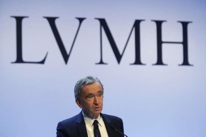 Le Président-directeur général du groupe LVMH, Bernard Arnault, le 28 janvier à Paris.