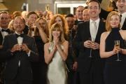 David Rasche, Fisher Stevens, Holly Hunter, Matthew Macfadyen et Sarah Snook, dans« Succession» deJesse Armstrong.