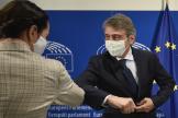 Le président du Parlement européen David Sassoli à Bruxelles, le 21 septembre.