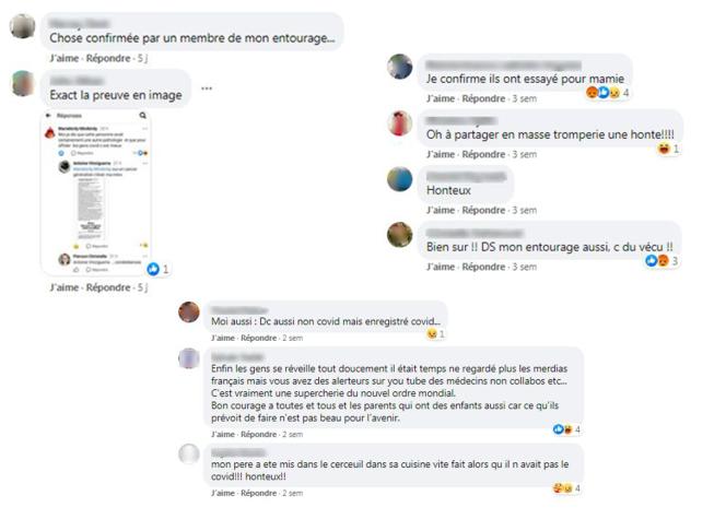 Captures d'écran prise sur Facebook le 22 septembre.