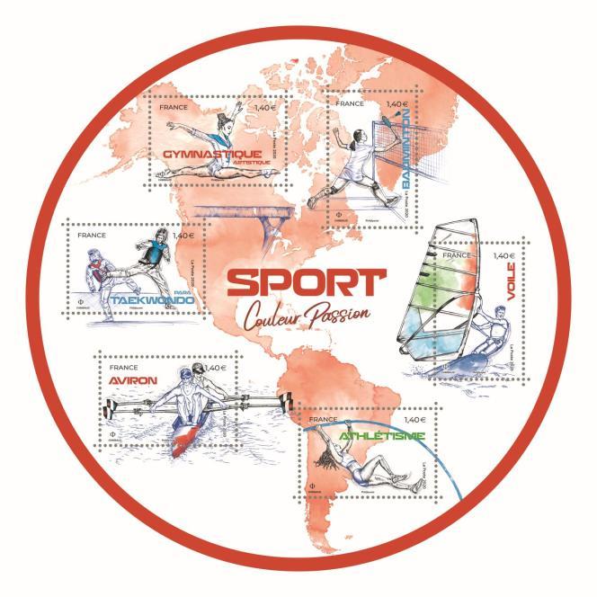 Bloc-feuillet de six timbres dessinés par Sandrine Chimbaud (mise en page: Agence Absinthe). Impression: héliogravure. Mise en vente générale le 21 septembre.