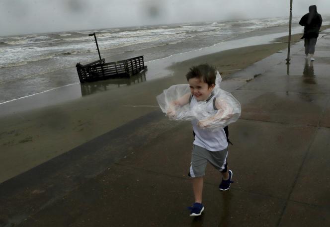 Après le passage de la tempête tropicale Beta, le 21 septembre à Galveston (Texas).
